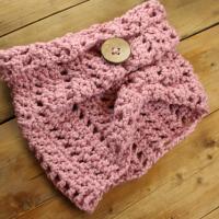 Oud roze colsjaal voor vrouwen