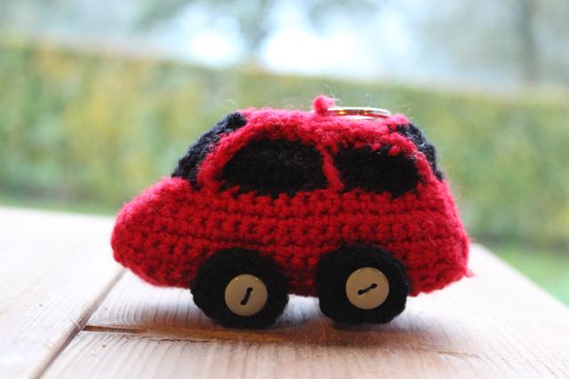 Rode Auto Haken Als Sleutelhanger