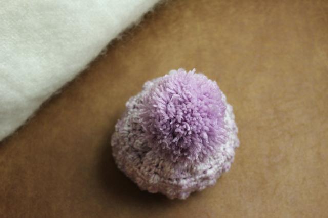 Lieve lila babymuts haken