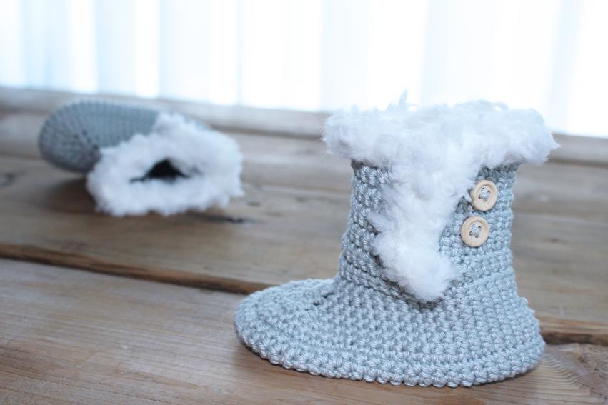 Babyslofjes haken voor de winter