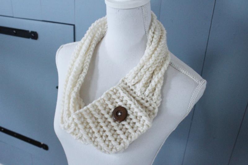 Haken van een gevlochten sjaal